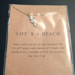 Life is a beach necklace